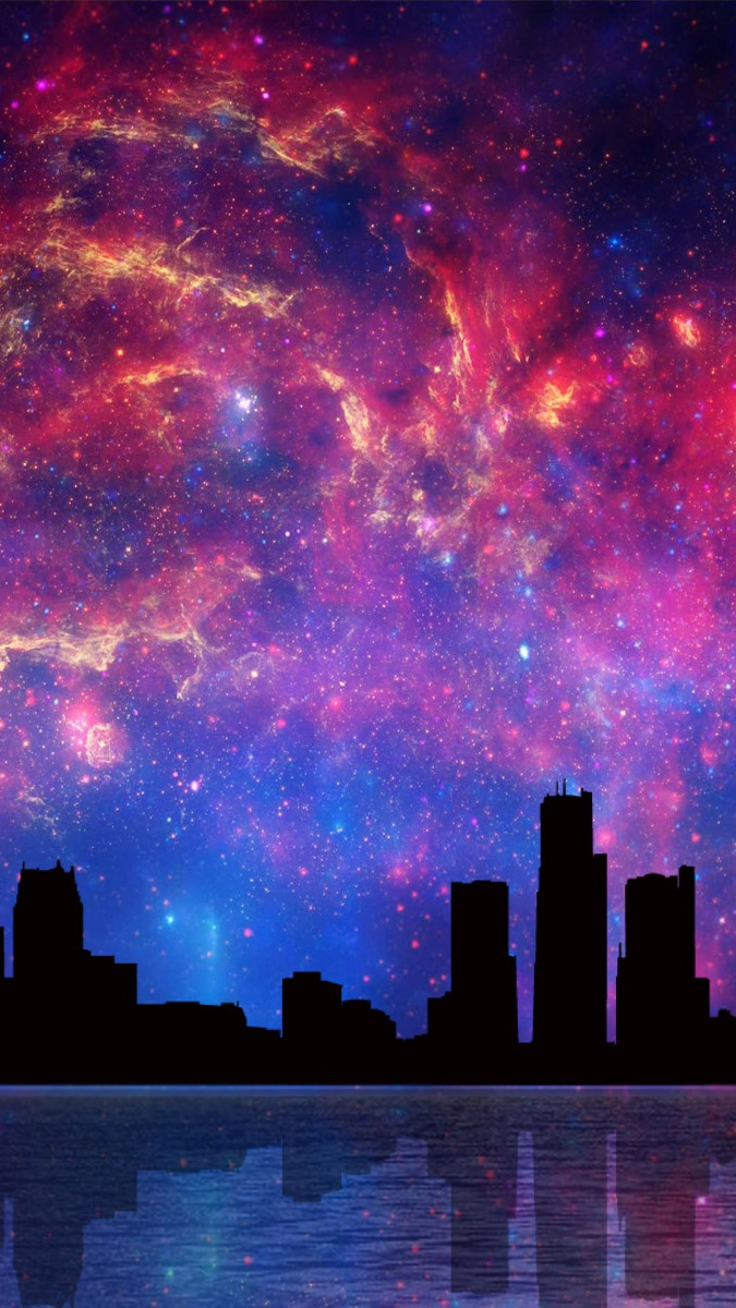 Nebula Galaxy from City iPhone Wallpaper iphoneswallpapers com
