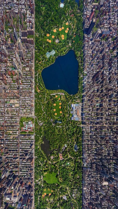 New York City Buildings Central Park Satellite Photo iPhone Wallpaper iphoneswallpapers com
