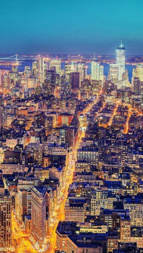 New York Lightning iPhone Wallpaper iphoneswallpapers com