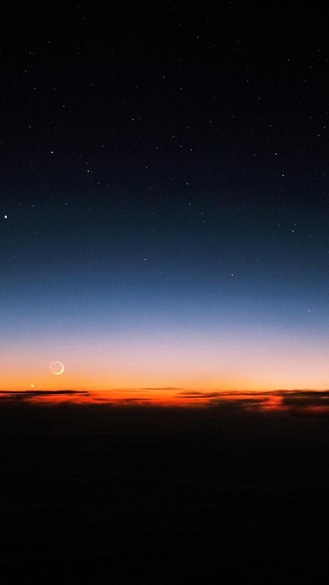 night-sky-sunset-stars-iphone-wallpaper