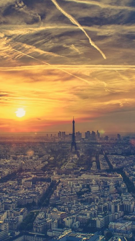 Paris Morning View iPhone Wallpaper iphoneswallpapers com