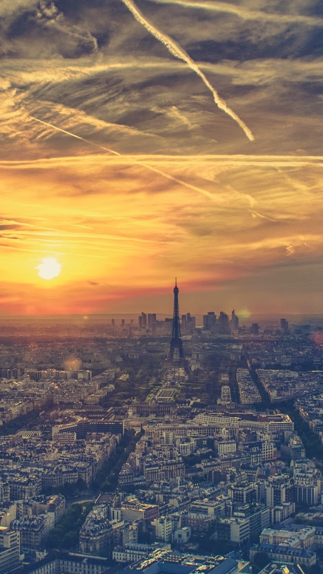 Paris Morning View iPhone Wallpaper iphoneswallpapers com
