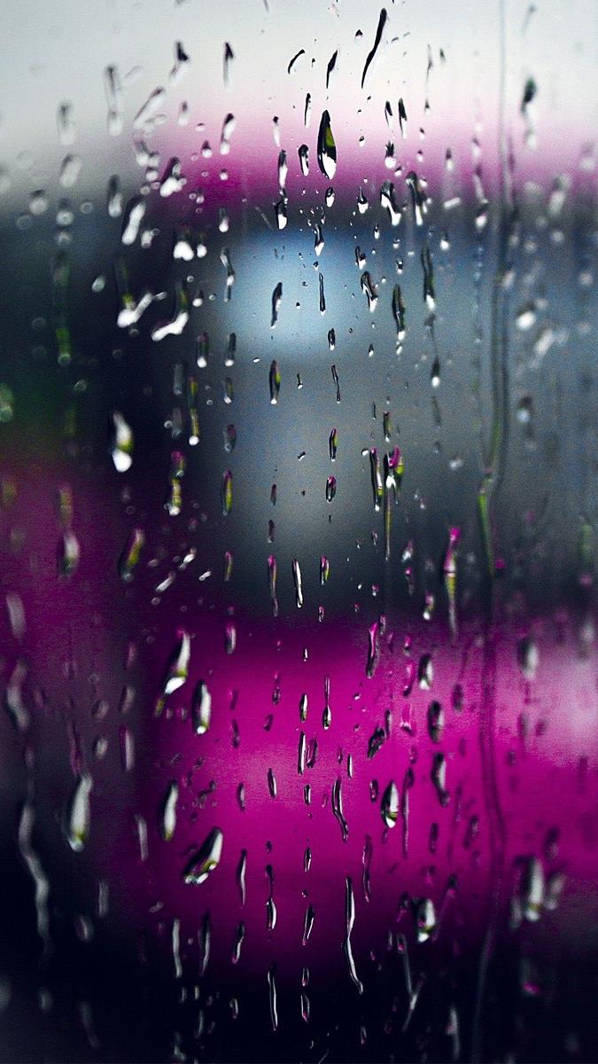 Rain Bus Glass iPhone Wallpaper iphoneswallpapers com