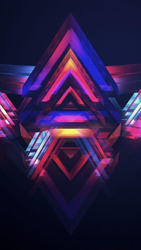 Triangle Art Manipulation iPhone Wallpaper iphoneswallpapers com
