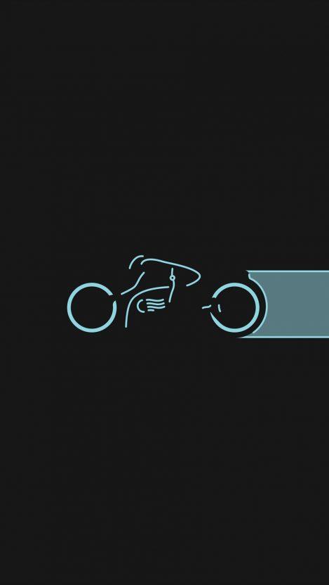 Tron Movie Light Bike Blue iPhone Wallpaper iphoneswallpapers com
