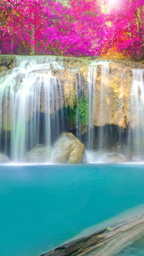Waterfall kakskad river iPhone Wallpaper iphoneswallpapers com