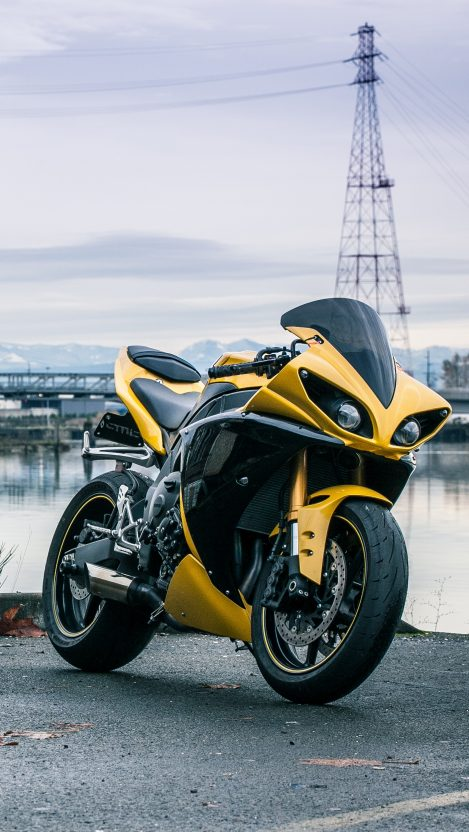 Yamaha R1 Yellow iPhone Wallpaper iphoneswallpapers com