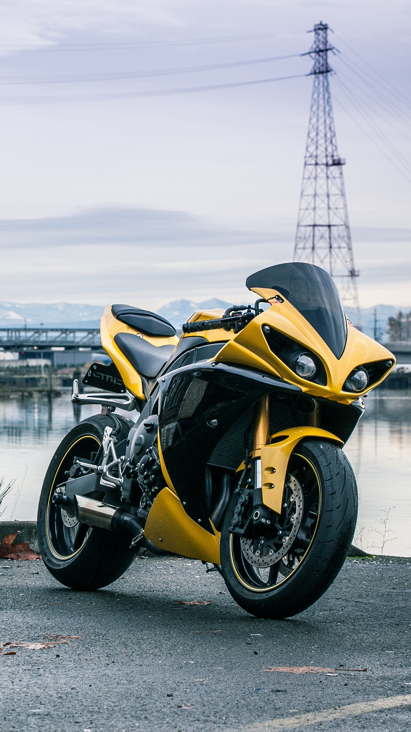 Yamaha-R1-Yellow-iPhone-Wallpaper - iPhone Wallpapers
