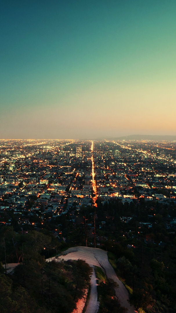 Los-angeles-california-city-night-iPhone-Wallpaper