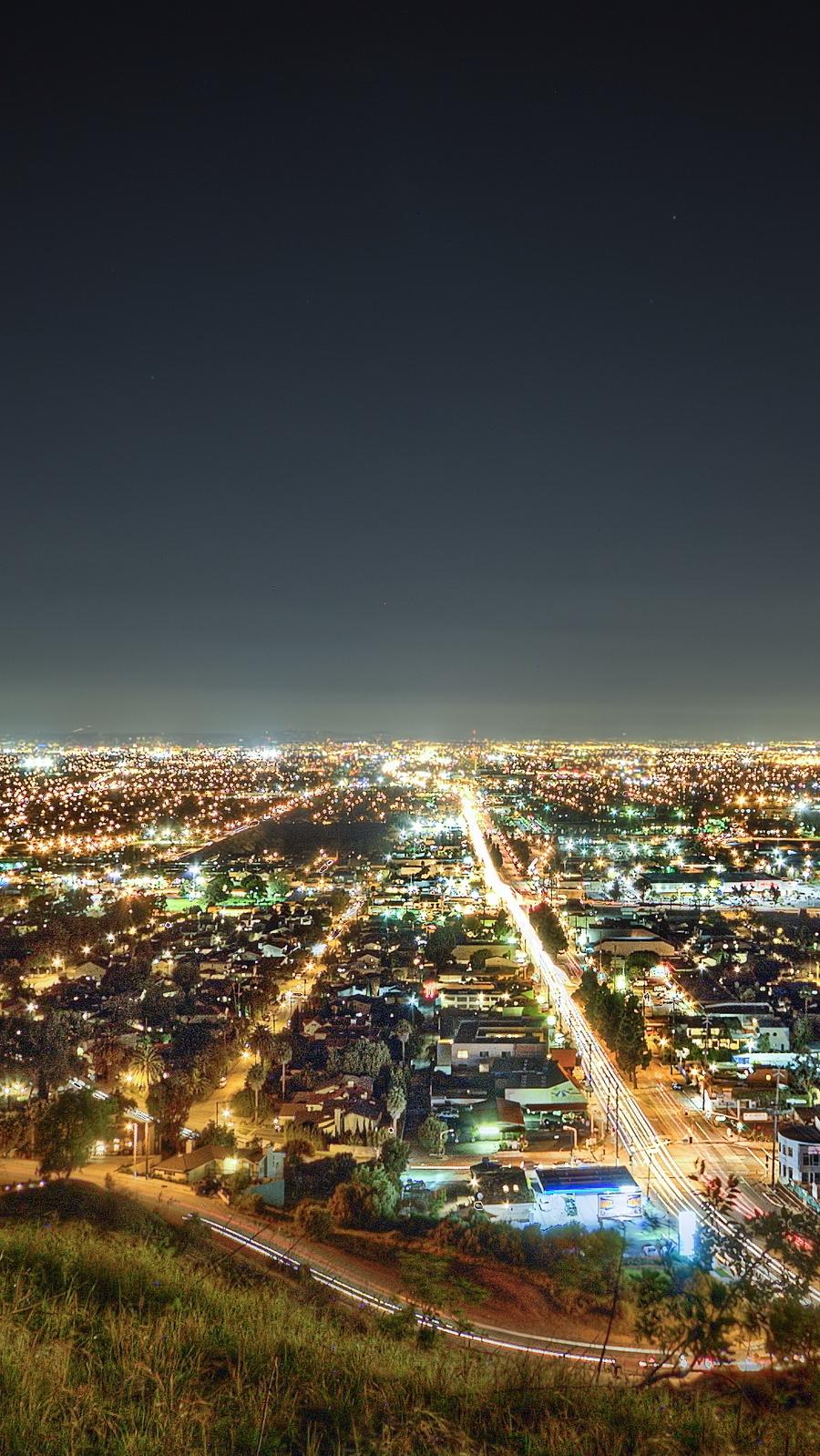 Los-angeles-california-night-iPhone-Wallpaper - iPhone Wallpapers