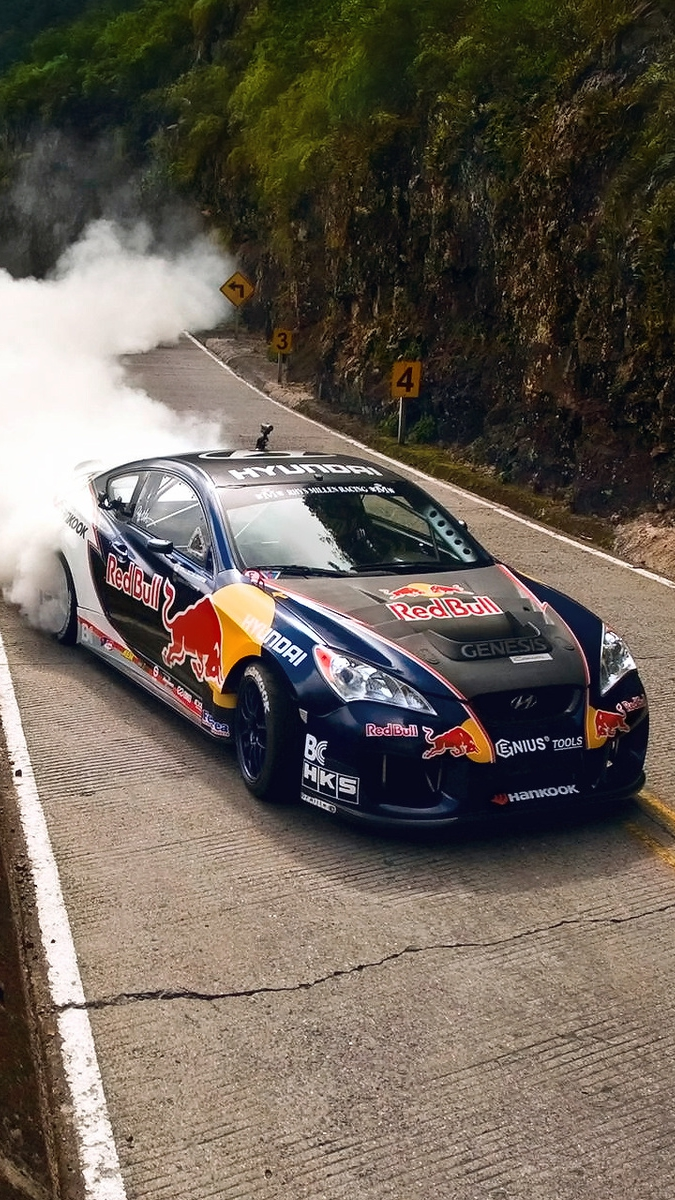 Red-Bull-Drifting-Extreme-Brazil-iPhone-Wallpaper - iPhone