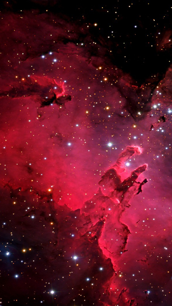 Red-Nebula-Galaxy-iPhone-Wallpaper - iPhone Wallpapers