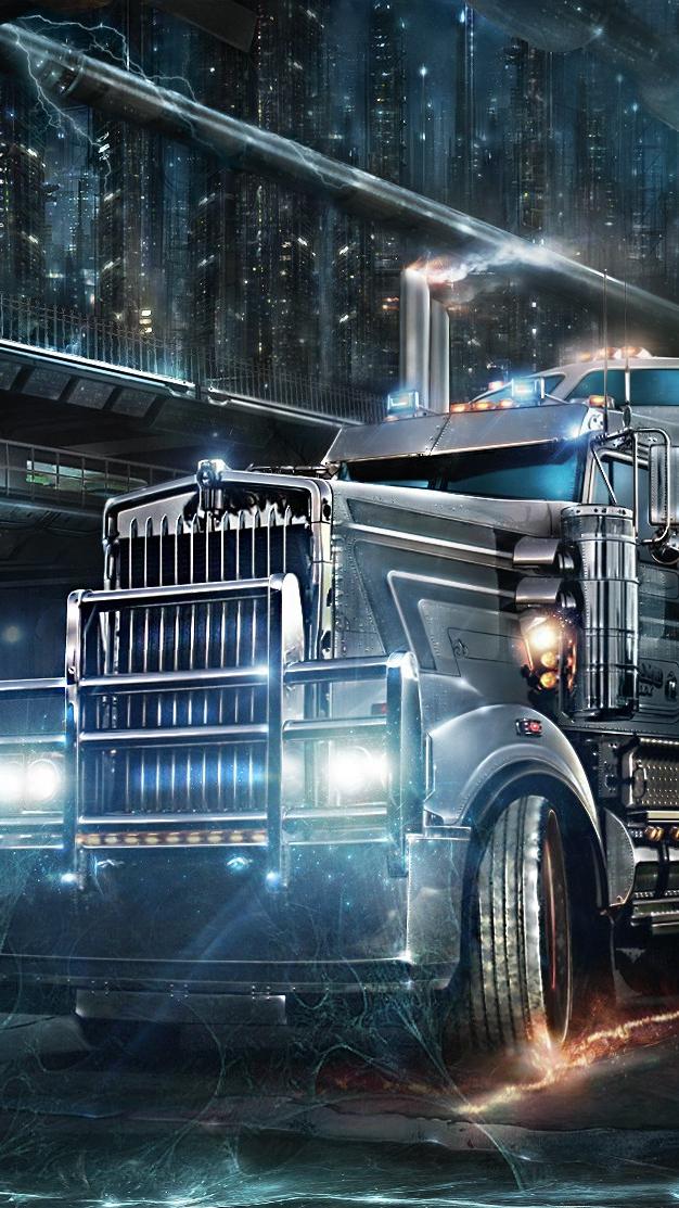 Road Train Heavy Truck iPhone Wallpaper iphoneswallpapers com