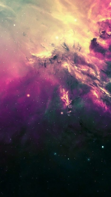 Space Nebula Digital Art iPhone Wallpaper iphoneswallpapers com