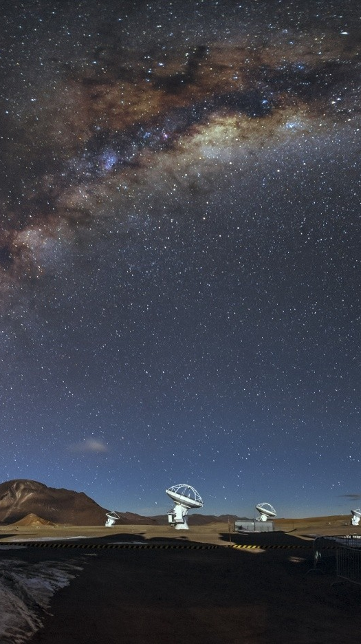 Space View From Alma Observatory Chile iPhone Wallpaper iphoneswallpapers com
