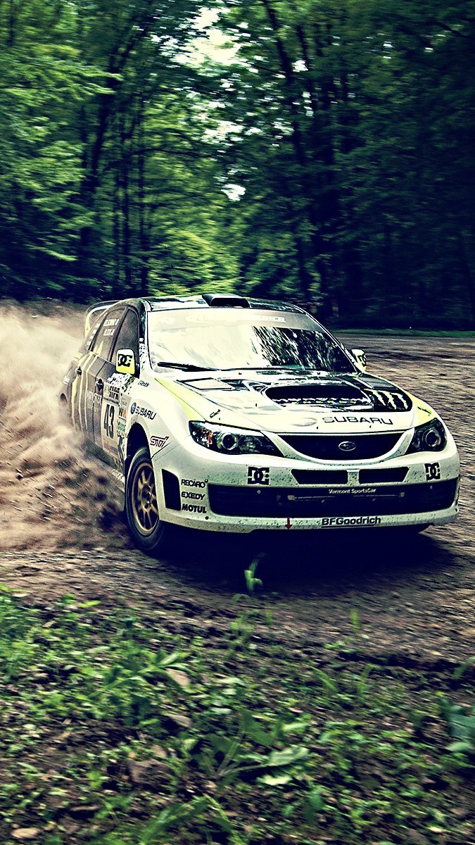Subaru Rally Car Drifting Wallpaper Iphone Wallpaper