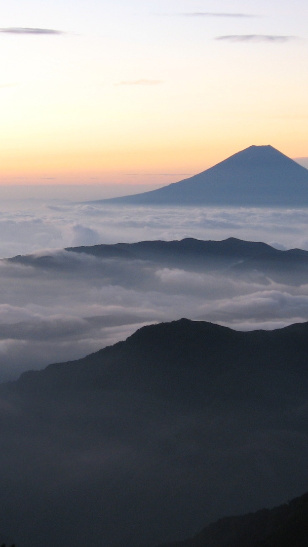 Sunrise From Mount Fuji Japan iPhone Wallpaper iphoneswallpapers com