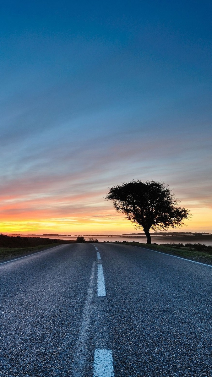 Sunrise-Road-Country-Side-iPhone-Wallpaper - iPhone Wallpapers