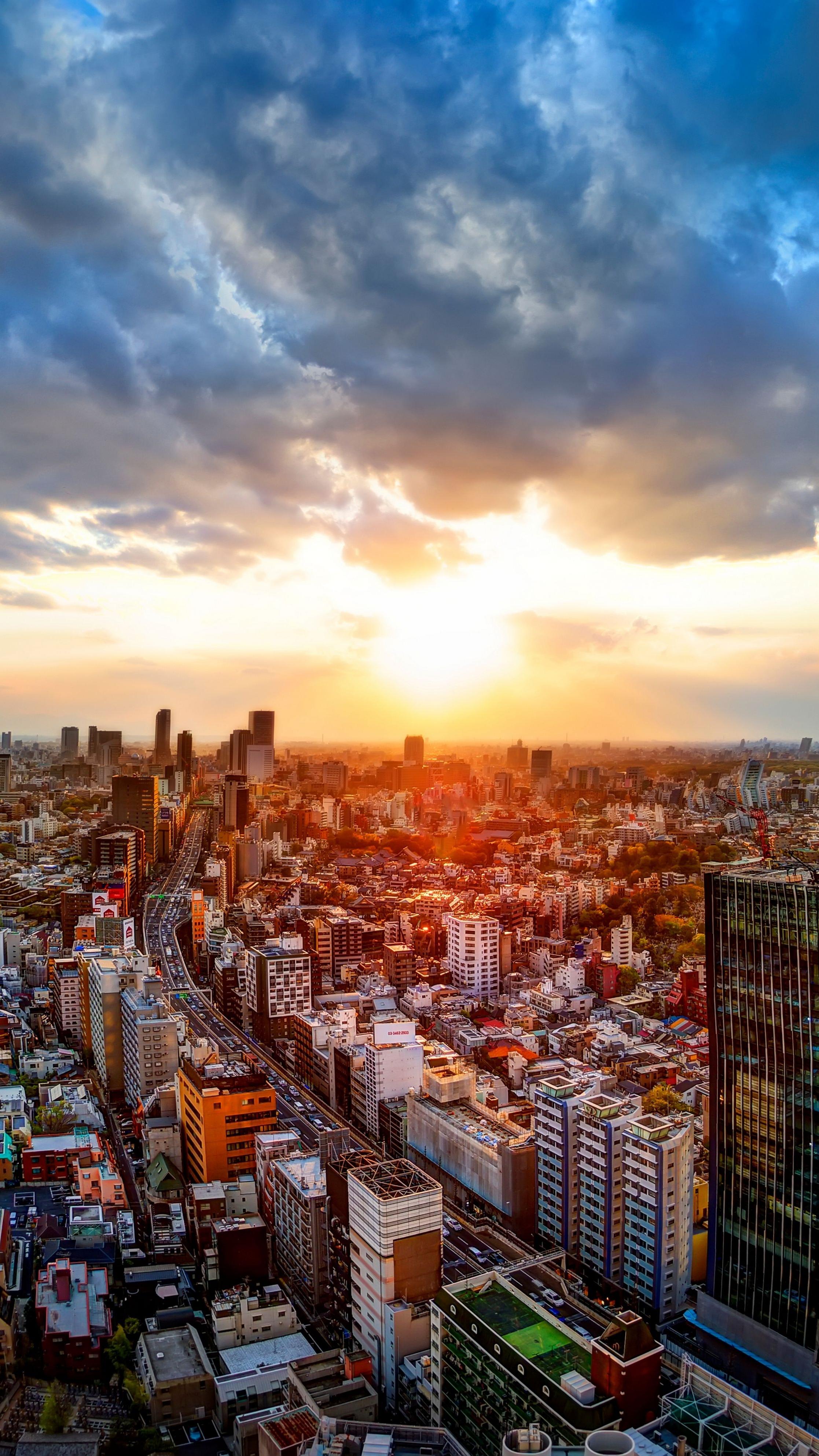 Sunrise in tokyo iphone wallpaper iphone wallpapers - Japanese wallpaper phone ...