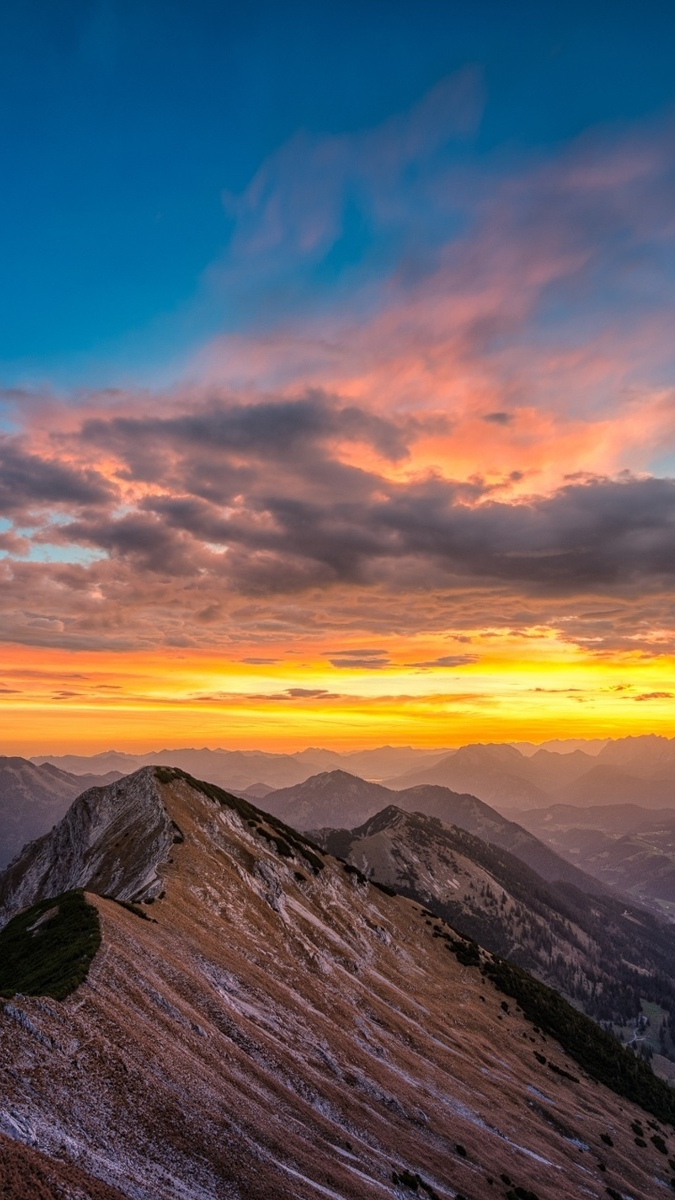Sunset View From Mountains iPhone Wallpaper iphoneswallpapers com