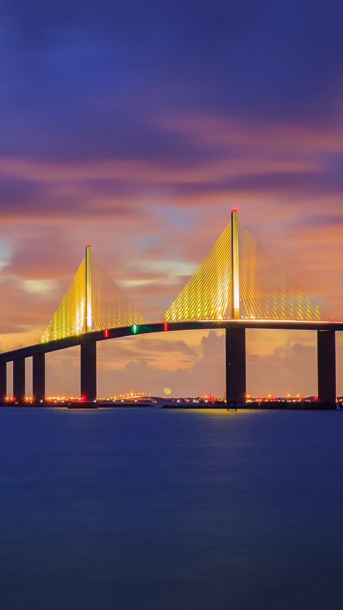 Sunshine Skyway Bridge Florida Iphone Wallpaper Iphone