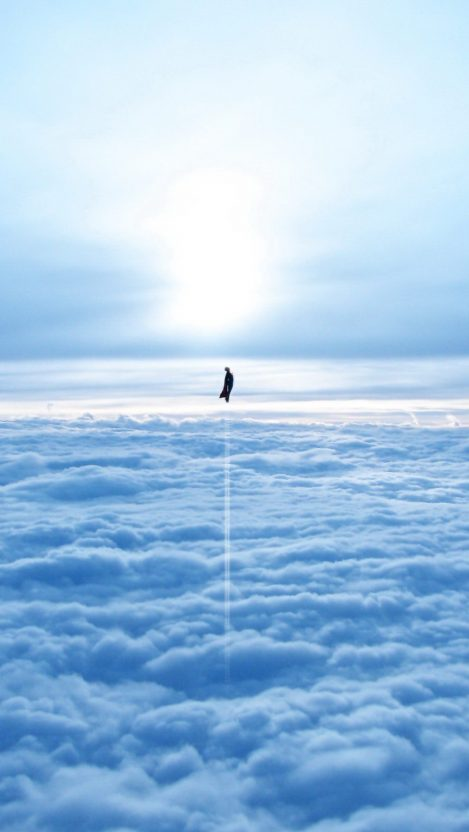Superman in Sky iPhone Wallpaper iphoneswallpapers com