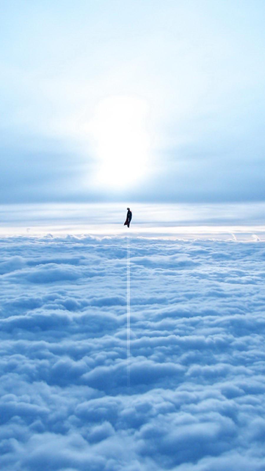 Superman In Sky Iphone Wallpaper Iphone Wallpapers