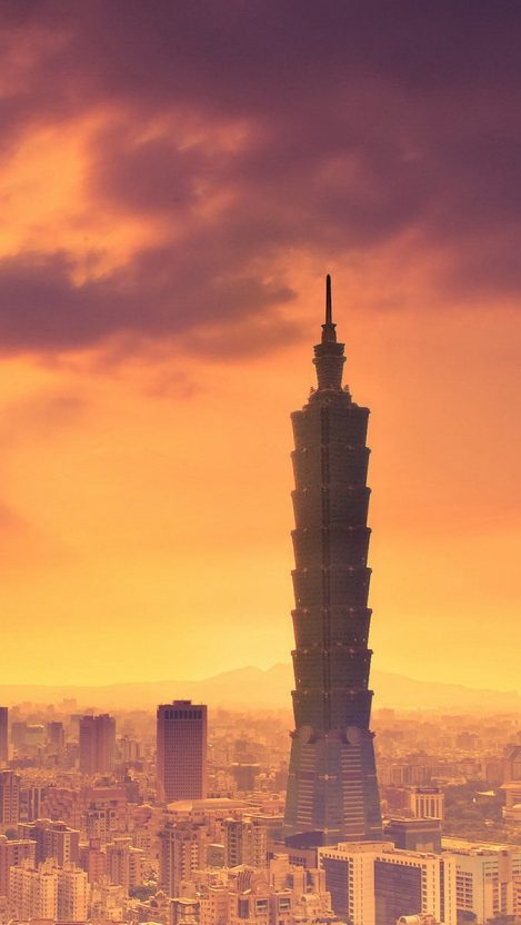 Image Taiwan China Taipei World Financial Center night