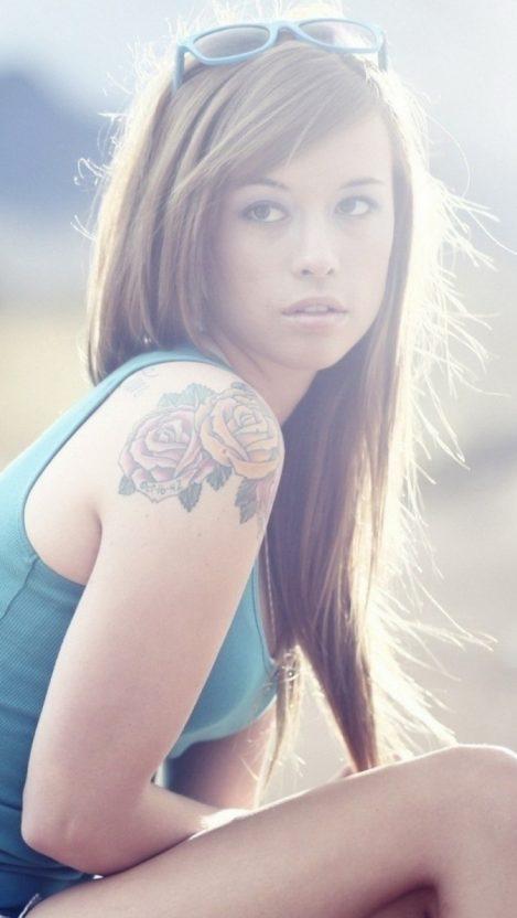 Tattoo Girl iPhone Wallpaper iphoneswallpapers com