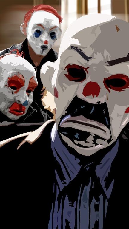 The Dark Knight Joker Masks IPhone Wallpaper