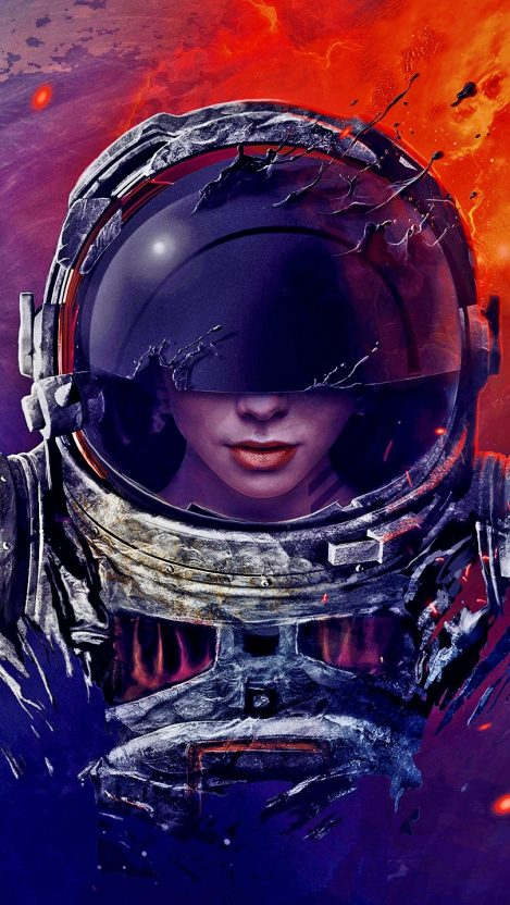 The Ghost Astronaut Artistic Wallpaper iPhone Wallpaper iphoneswallpapers com