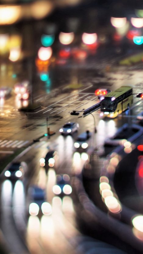 Tilt Shift View of City iPhone Wallpaper iphoneswallpapers com