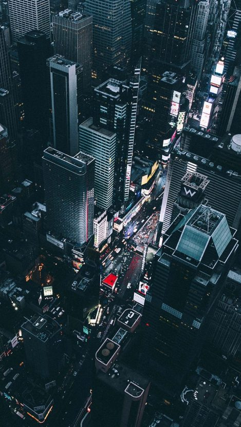 Time-Square-New-York-View-from-Chopper-iPhone-Wallpaper ...