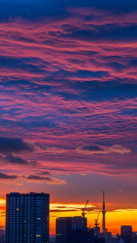 Tokyo Clouds iPhone Wallpaper iphoneswallpapers com