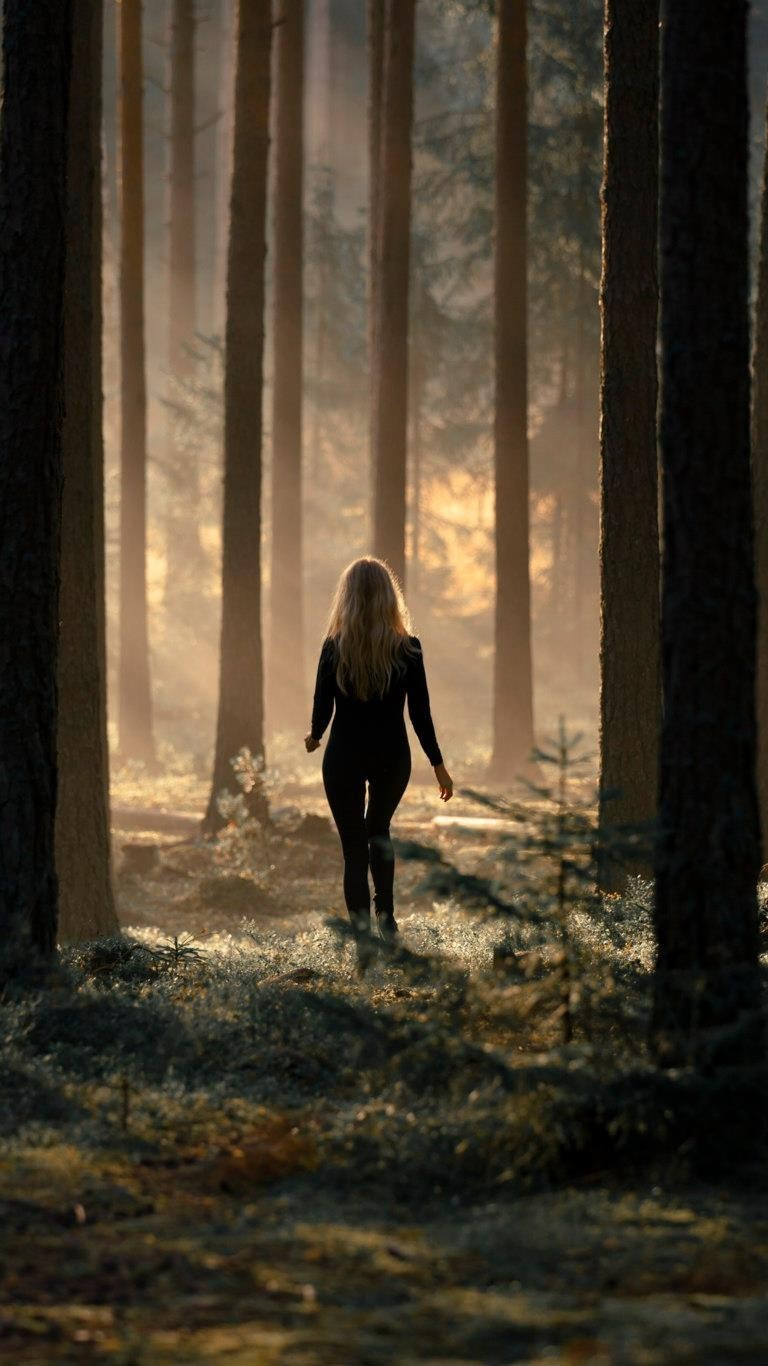 Alone Girl in Forest Wallpaper iPhone Wallpaper iphoneswallpapers com