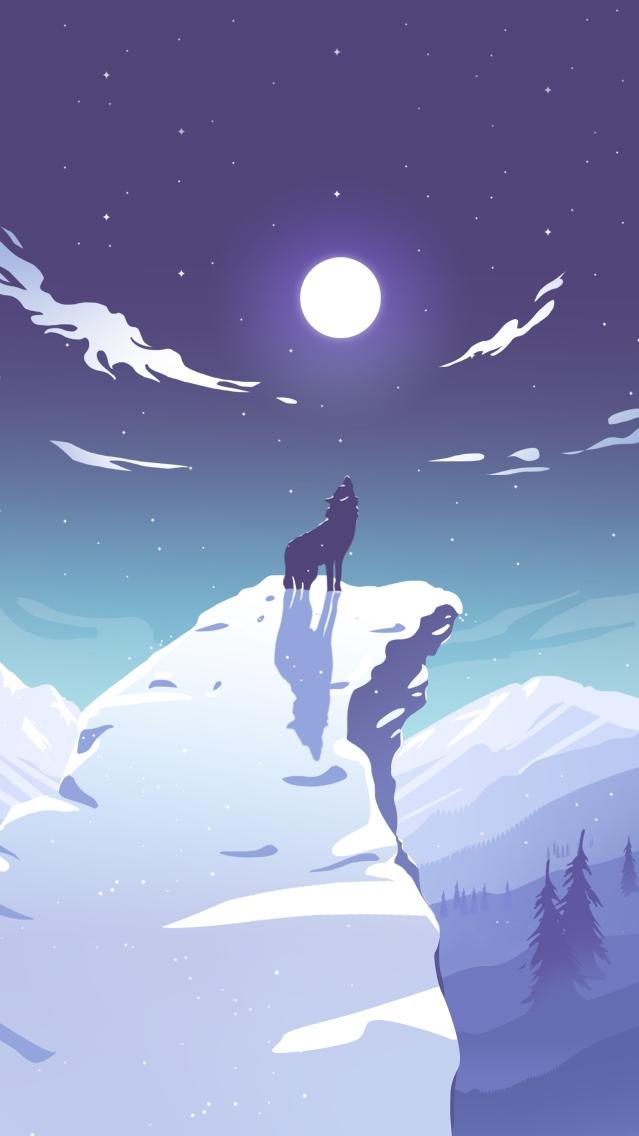 Alpha Wolf iPhone Wallpaper iphoneswallpapers com