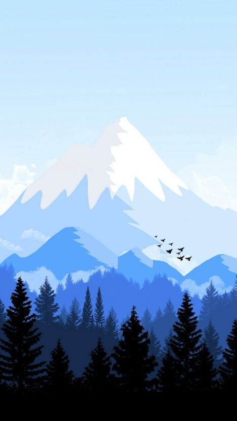 Alps Mountain Animated Forest iPhone Wallpaper iphoneswallpapers com