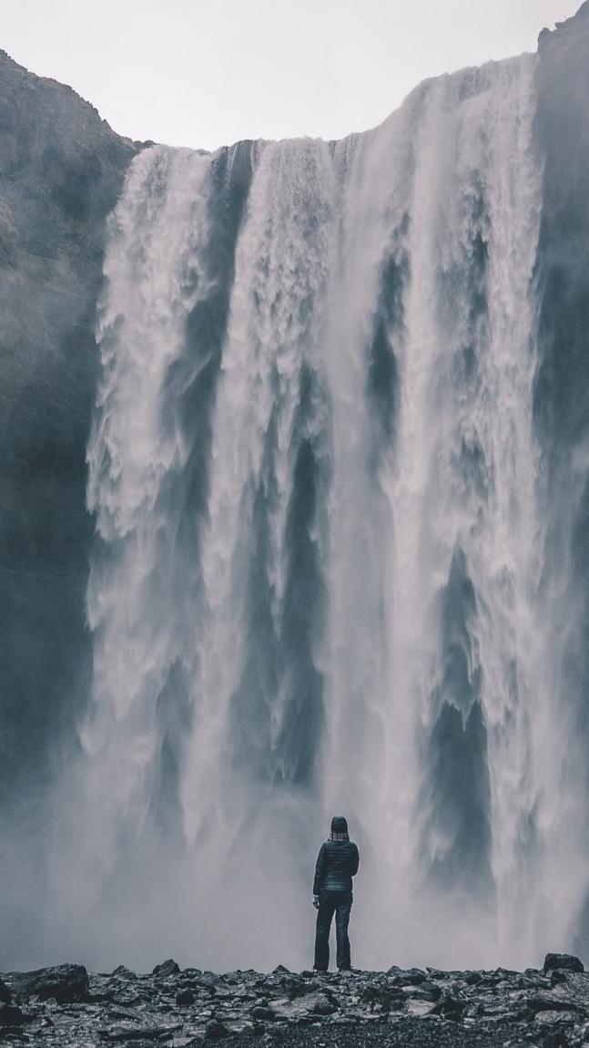 Amazing Waterfall Adventure Wallpaper iPhone Wallpaper iphoneswallpapers com
