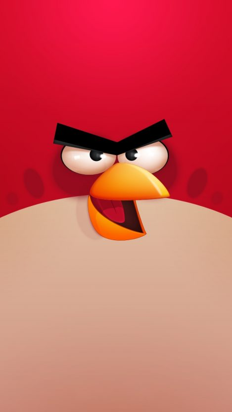 Angry Birds Red iPhone Wallpaper iphoneswallpapers com