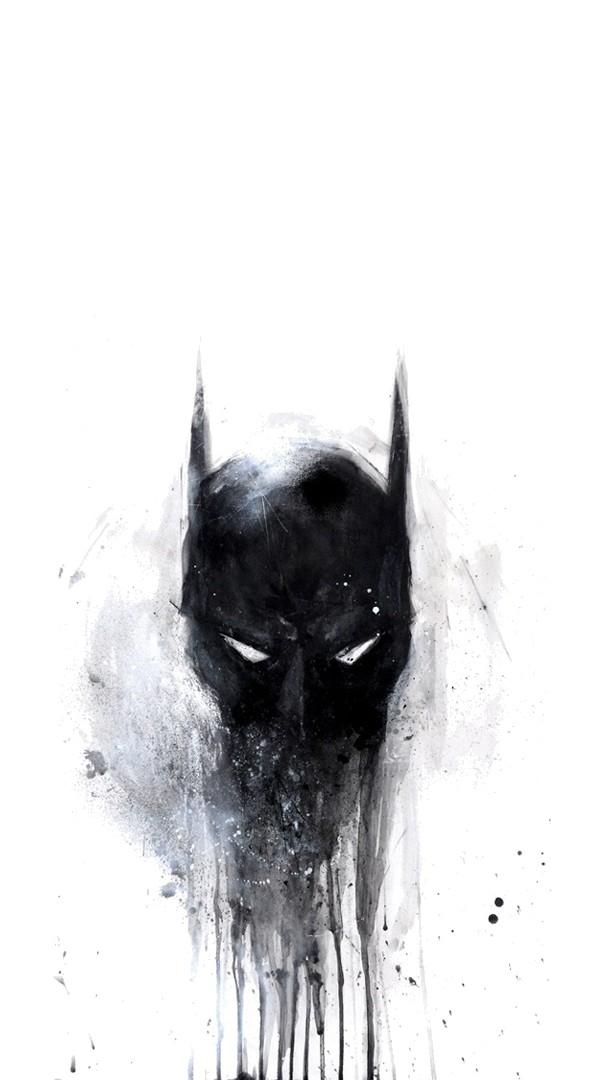Batman Scary Painting iPhone Wallpaper iphoneswallpapers com