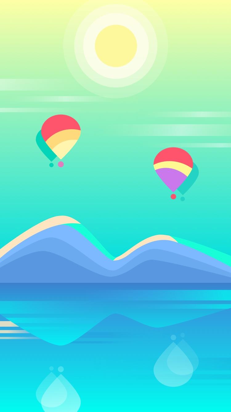 Colorful Air Balloons Digital Art iPhone Wallpaper iphoneswallpapers com
