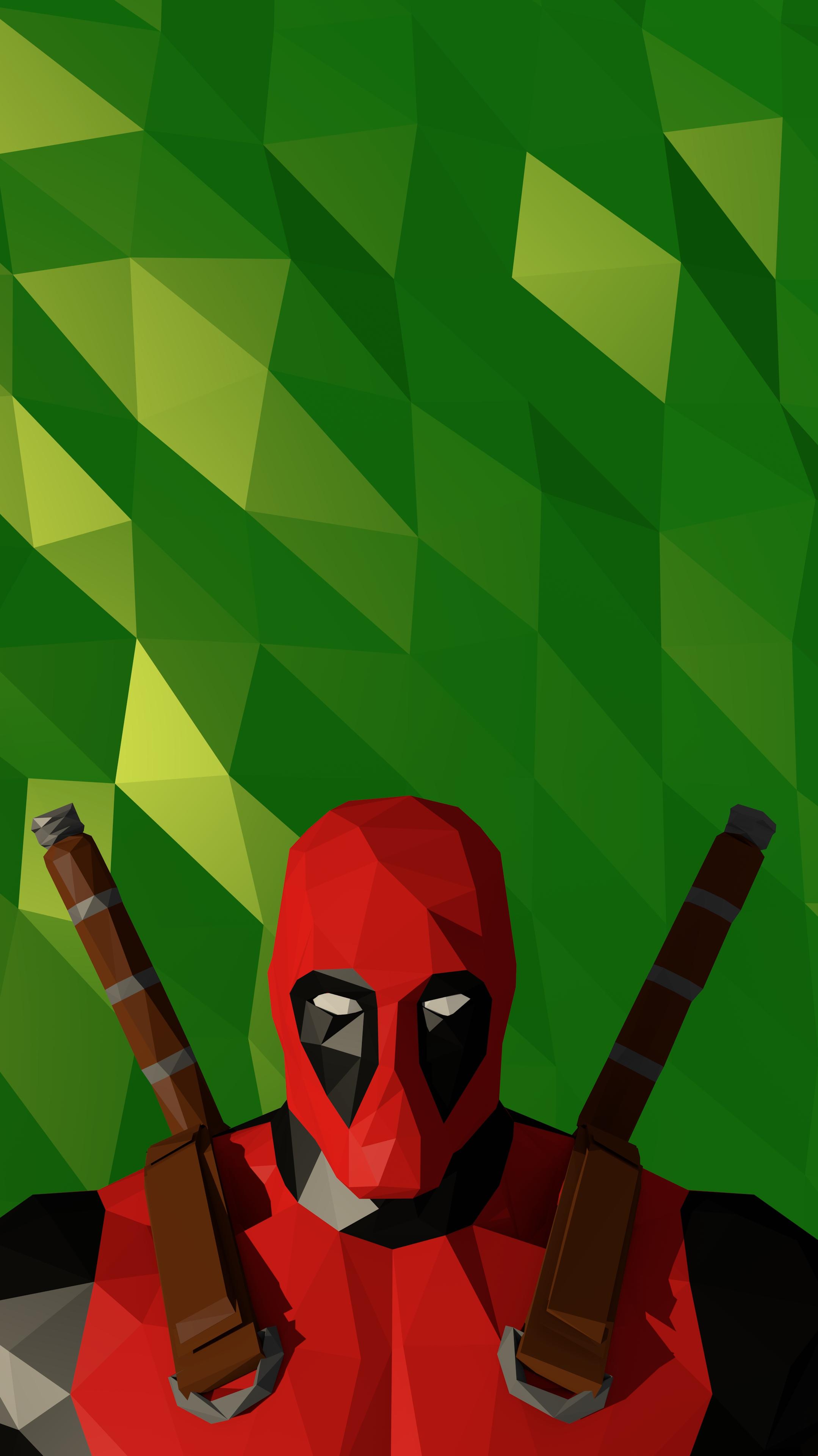 Deadpool Polygon iPhone Wallpaper iphoneswallpapers com