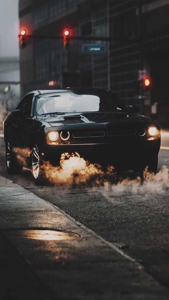 Dodge Challenger SRT Black iPhone Wallpaper iphoneswallpapers com