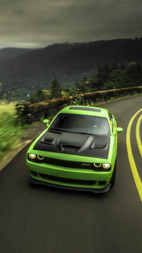 Dodge Challenger Srt Green Iphone Wallpaper Iphoneswallpapers Com X