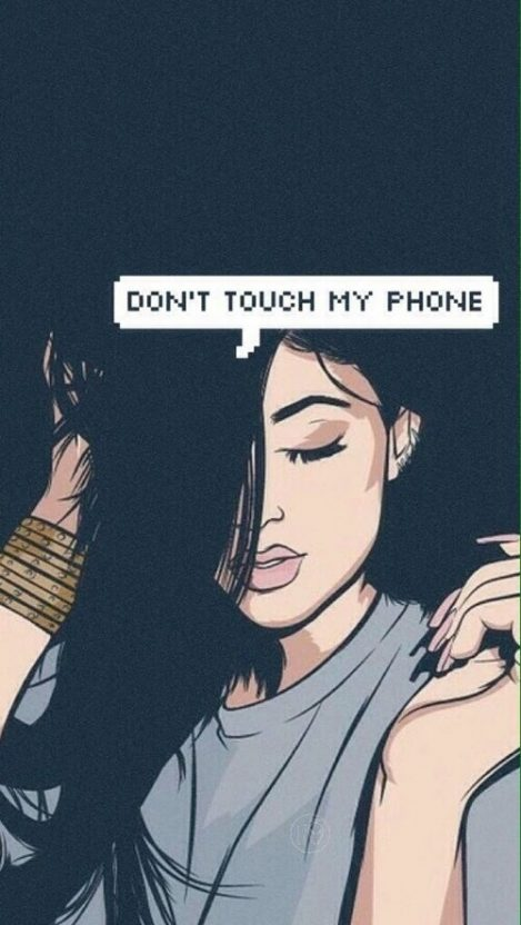 Dont Touch My Phone IPhone Wallpaper
