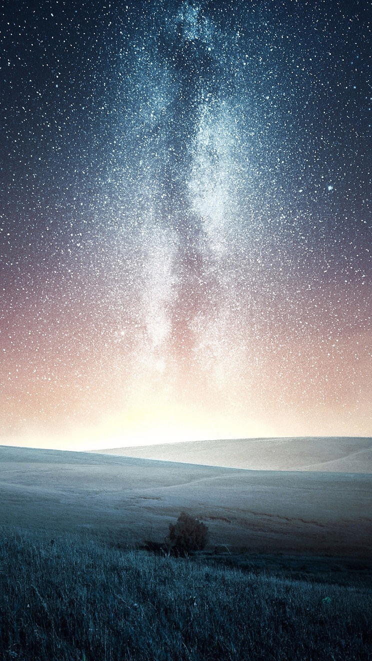 Galaxy View from Earth in Night iPhone Wallpaper iphoneswallpapers com