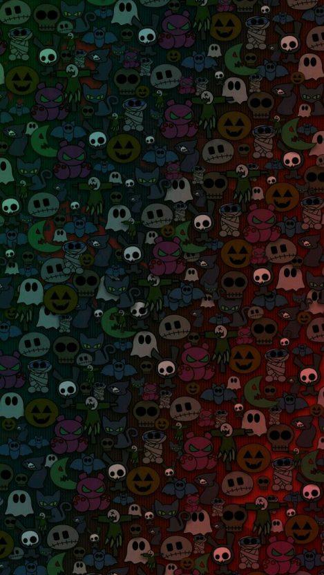 Halloween Cartoons iPhone Wallpaper iphoneswallpapers com