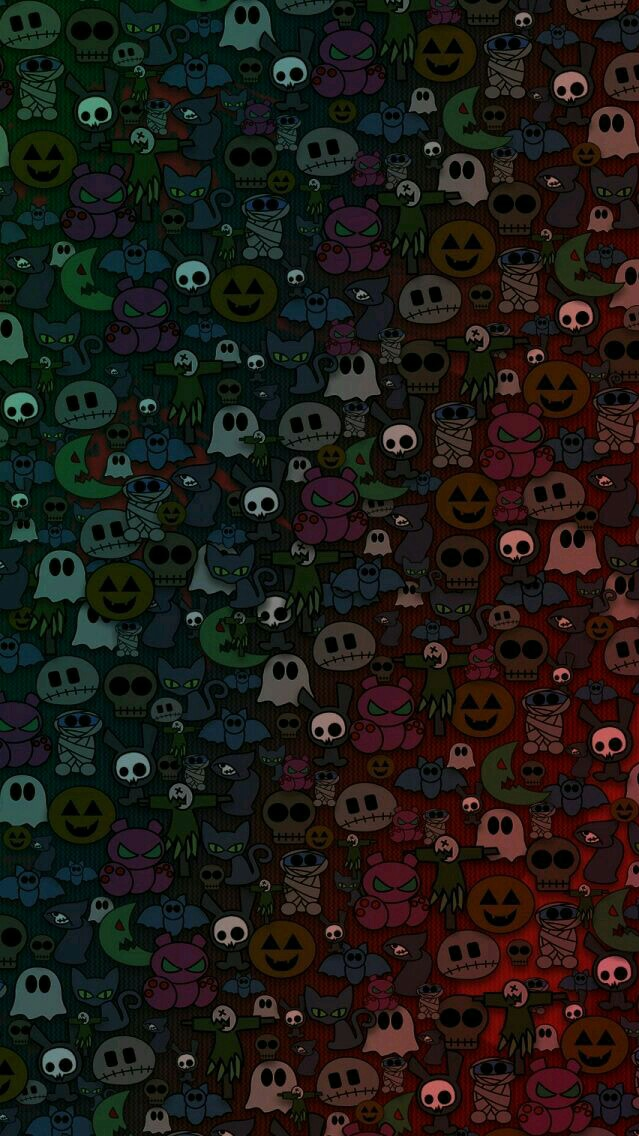 Halloween Cartoons iPhone Wallpaper iphoneswallpapers com