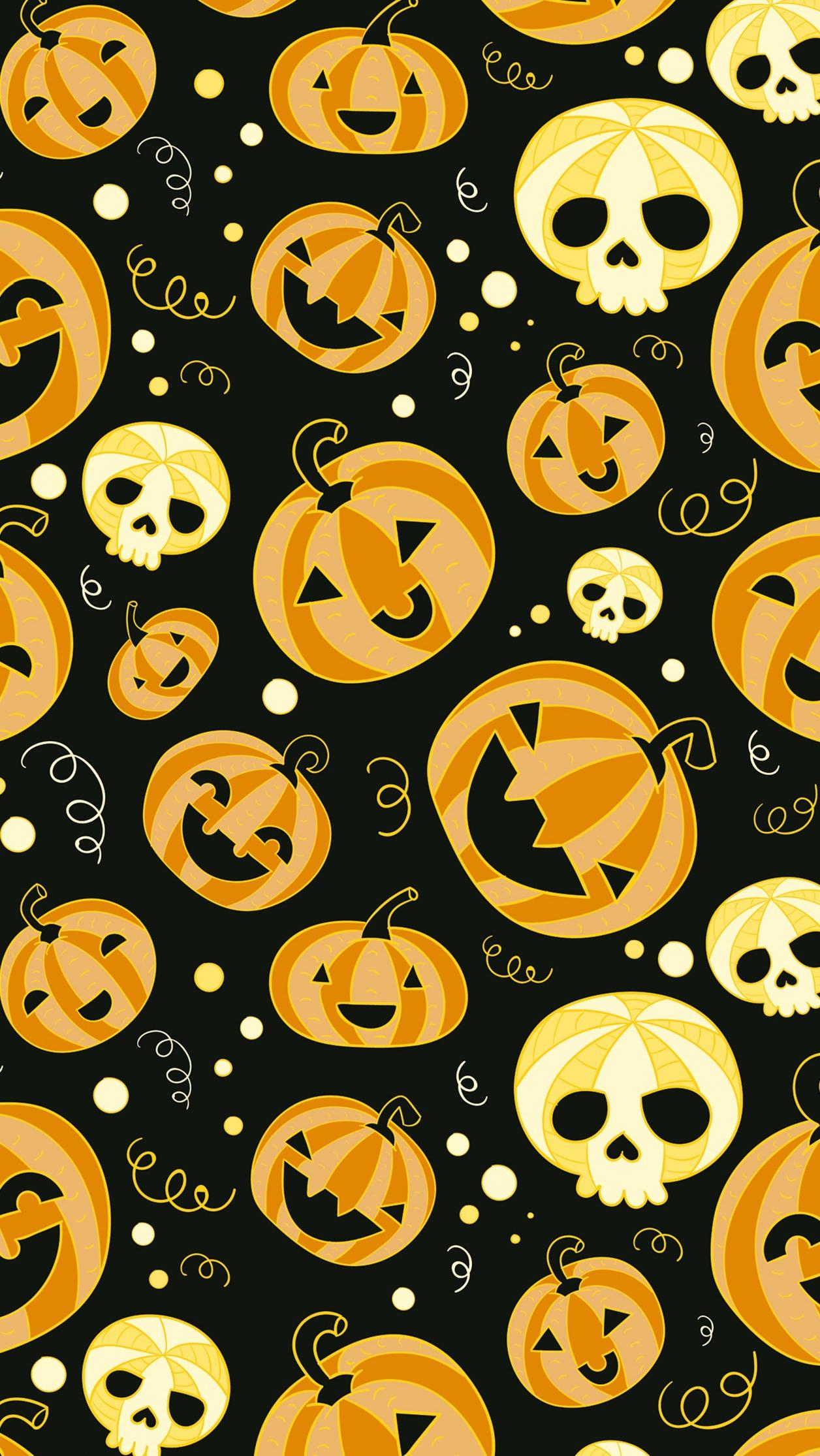 Halloween-Funny-Pumpkins-iPhone-Wallpaper - iPhone Wallpapers