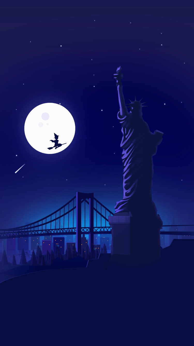Beautiful Wallpaper Halloween Iphone 6s Plus - Halloween-Witch-at-Statue-of-Liberty-Holloween-Night-Moon-iPhone-Wallpaper-iphoneswallpapers_com  Photograph_613495.jpg